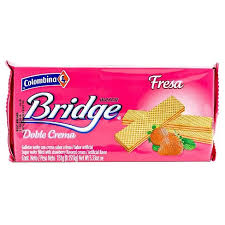 Gaufrettes Bridge Fresa Colombina