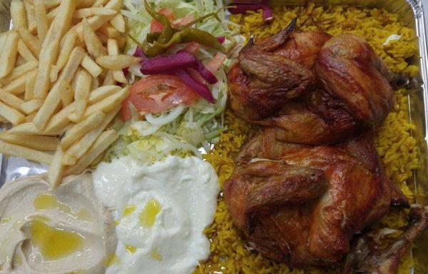 Assiette poulet entier